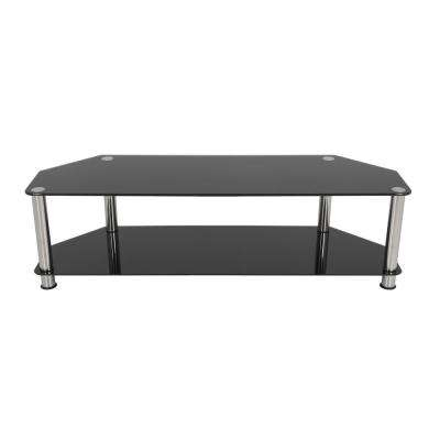 Glass – Tv Stands – Living Room Furniture – The Home Depot With Regard To Well Known Maddy 70 Inch Tv Stands (Image 9 of 25)