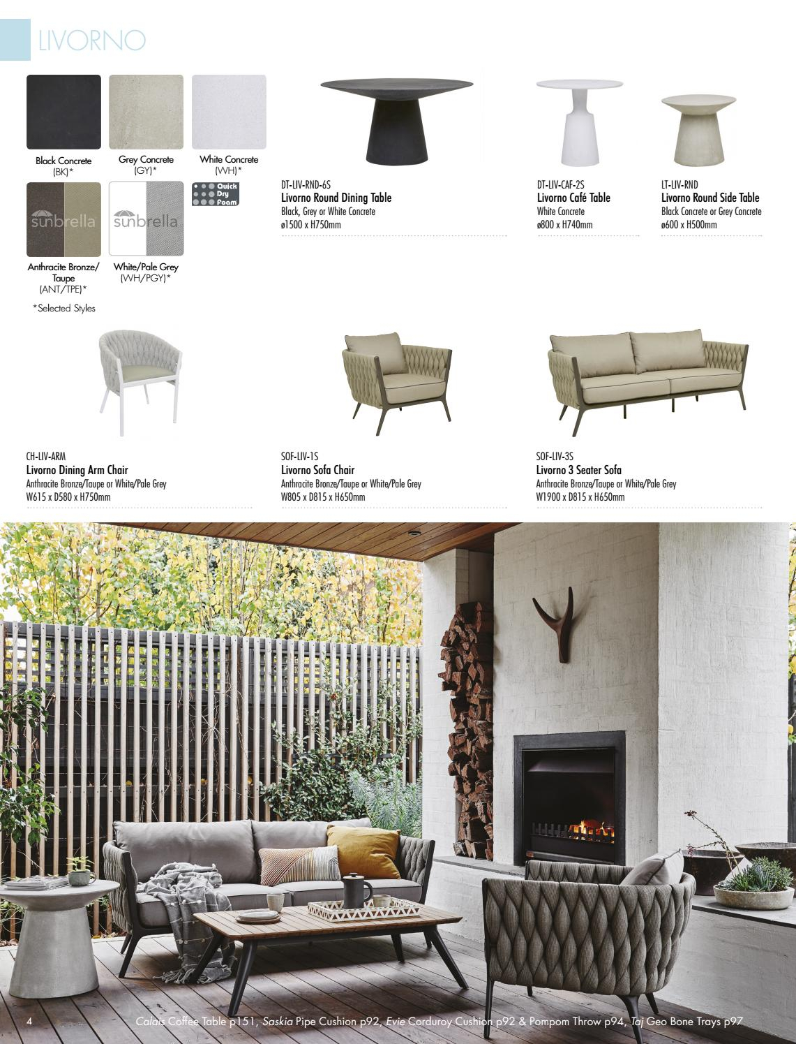Globewest Outdoor Catalogue | Collections 2018Globewest – Issuu Within Liv Arm Sofa Chairs (View 11 of 25)