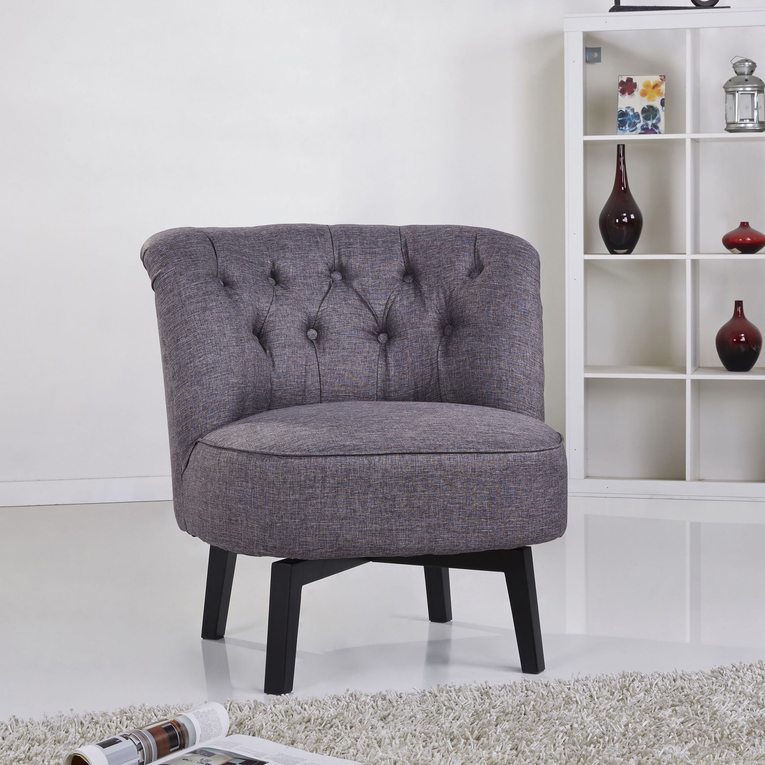 Gold Sparrow Raleigh Dark Grey Swivel Chair (Gold Sparrow Raleigh Pertaining To Dark Grey Swivel Chairs (View 17 of 25)