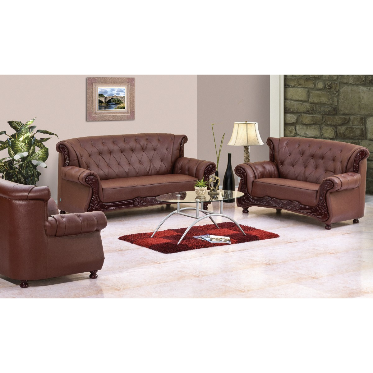 Grace Sofa (3 + 2 + 1 Seater) | Damro pertaining to Grace Sofa Chairs