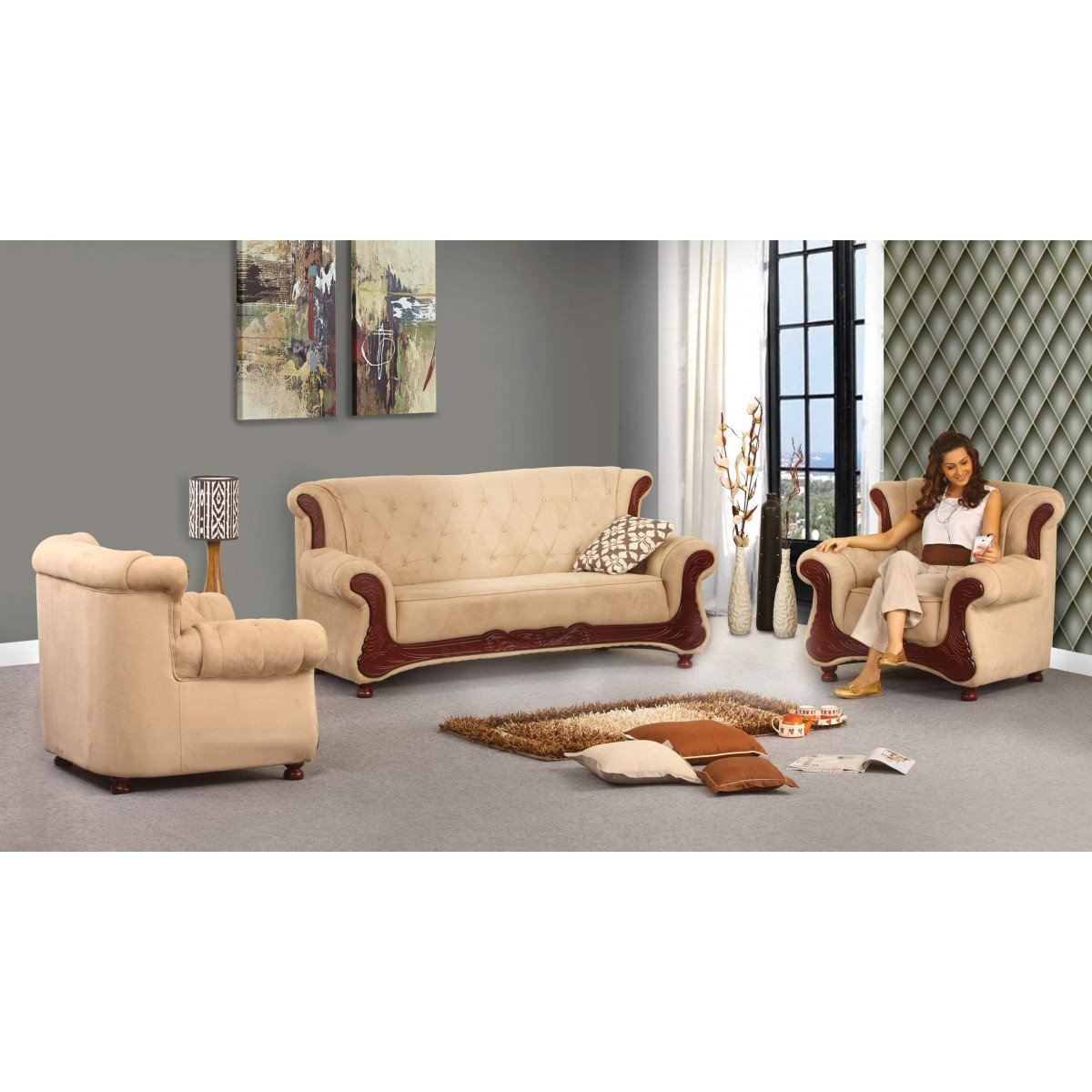 Grace Sofa | Damro Pertaining To Grace Sofa Chairs (Image 14 of 25)
