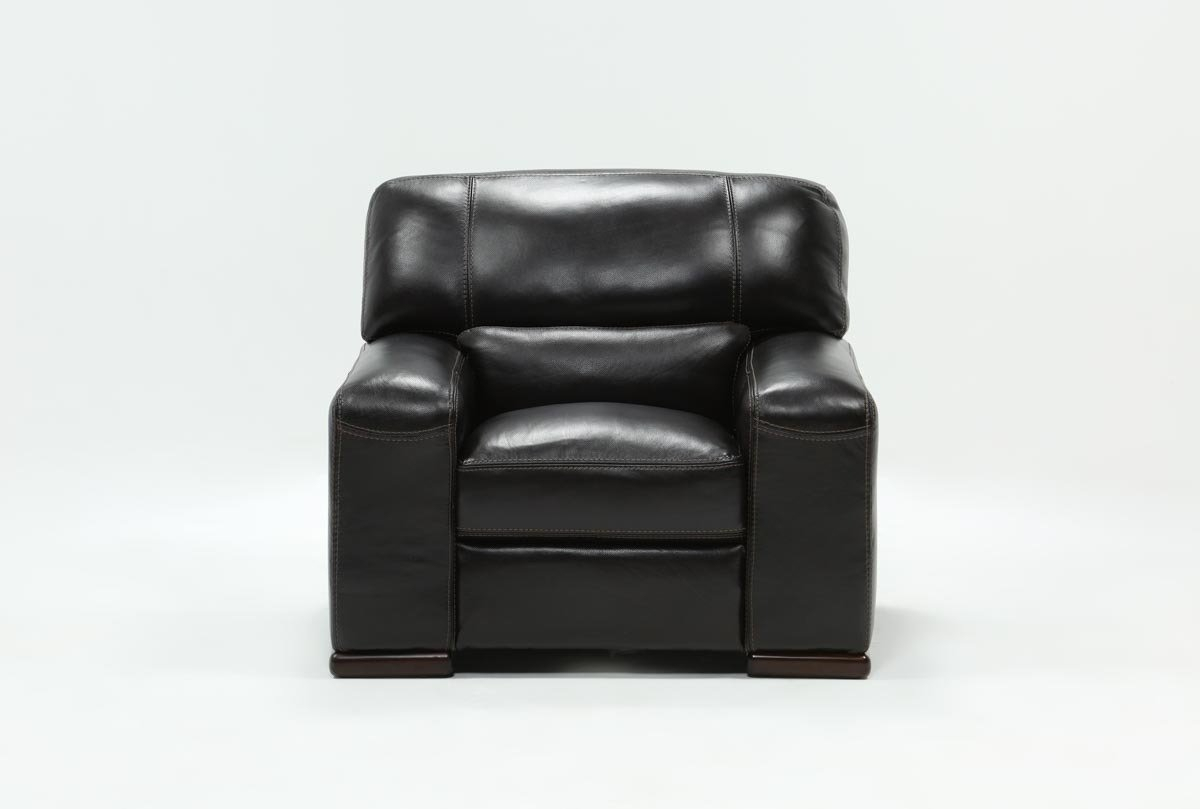 Grandin Leather Chair | Living Spaces For Grandin Leather Sofa Chairs (Image 11 of 25)