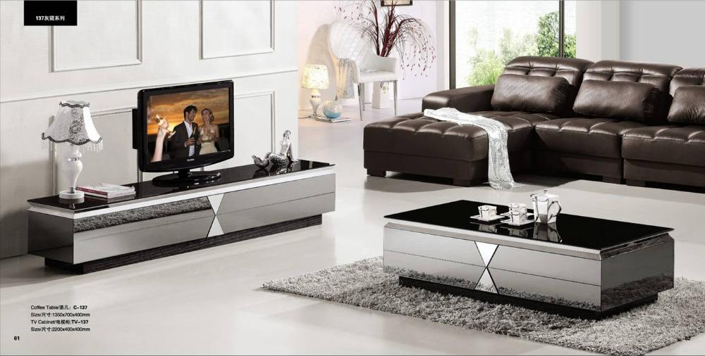Gray Mirror Modern Furniture, Coffee Table And Tv Cabinet Set,smart For Most Current Tv Cabinets And Coffee Table Sets (Photo 6616 of 7746)