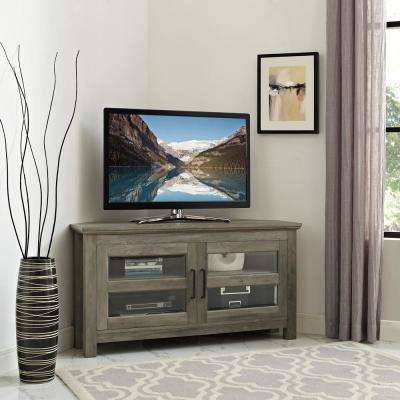 Gray – Tv Stands – Living Room Furniture – The Home Depot Within 2018 Abbott Driftwood 60 Inch Tv Stands (Image 10 of 25)