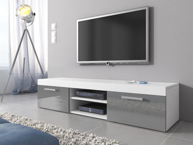 Grey High Gloss Tv Unit Cabinet Stand Mambo Body White Matte pertaining to Popular High Gloss Tv Cabinets