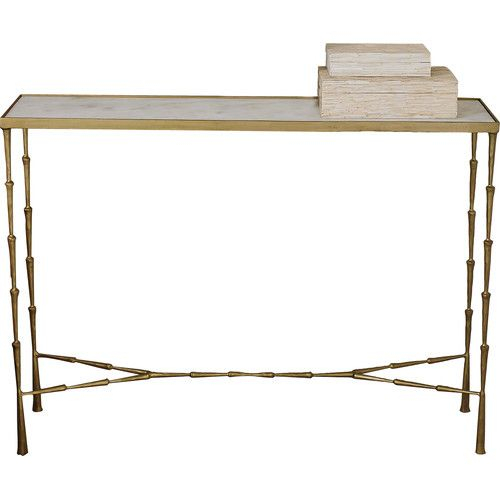 Grey Room Decorating Ideas Intended For Well Liked Parsons Grey Marble Top & Brass Base 48X16 Console Tables (Image 10 of 25)