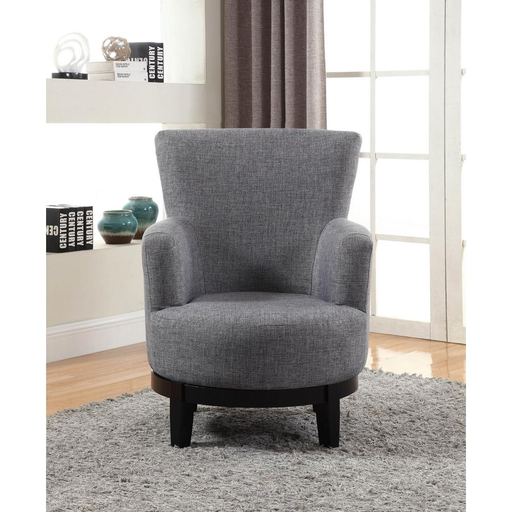 Grey Swivel Accent Chair 90019 27Gy – The Home Depot Pertaining To Grey Swivel Chairs (View 24 of 25)
