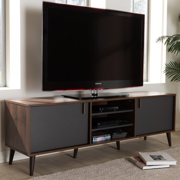Grey Tv Stand 50 Inch 50 Inch Jigsy Frame Tv Stand In Grey And White Within Trendy Melrose Titanium 65 Inch Lowboy Tv Stands (Image 11 of 25)
