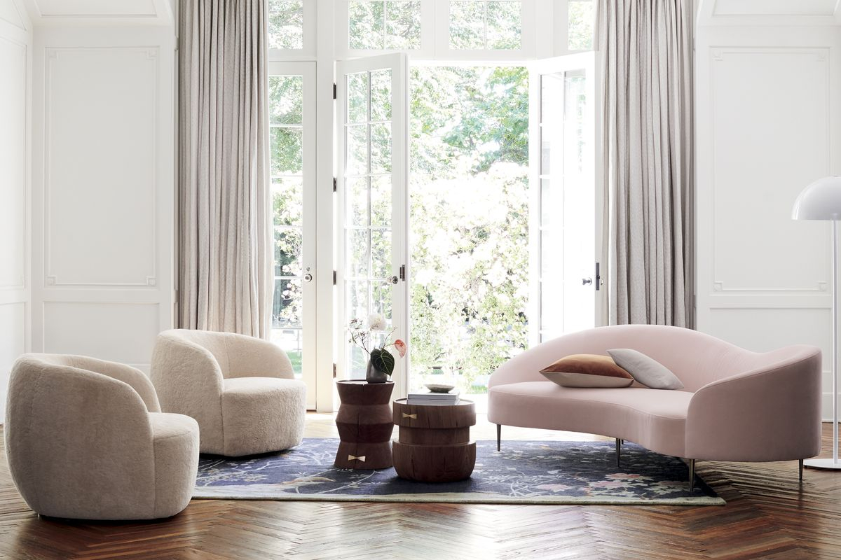 Gwyneth Paltrow's Goop, Cb2 Launch Furniture And Decor Collection for Gwen Sofa Chairs
