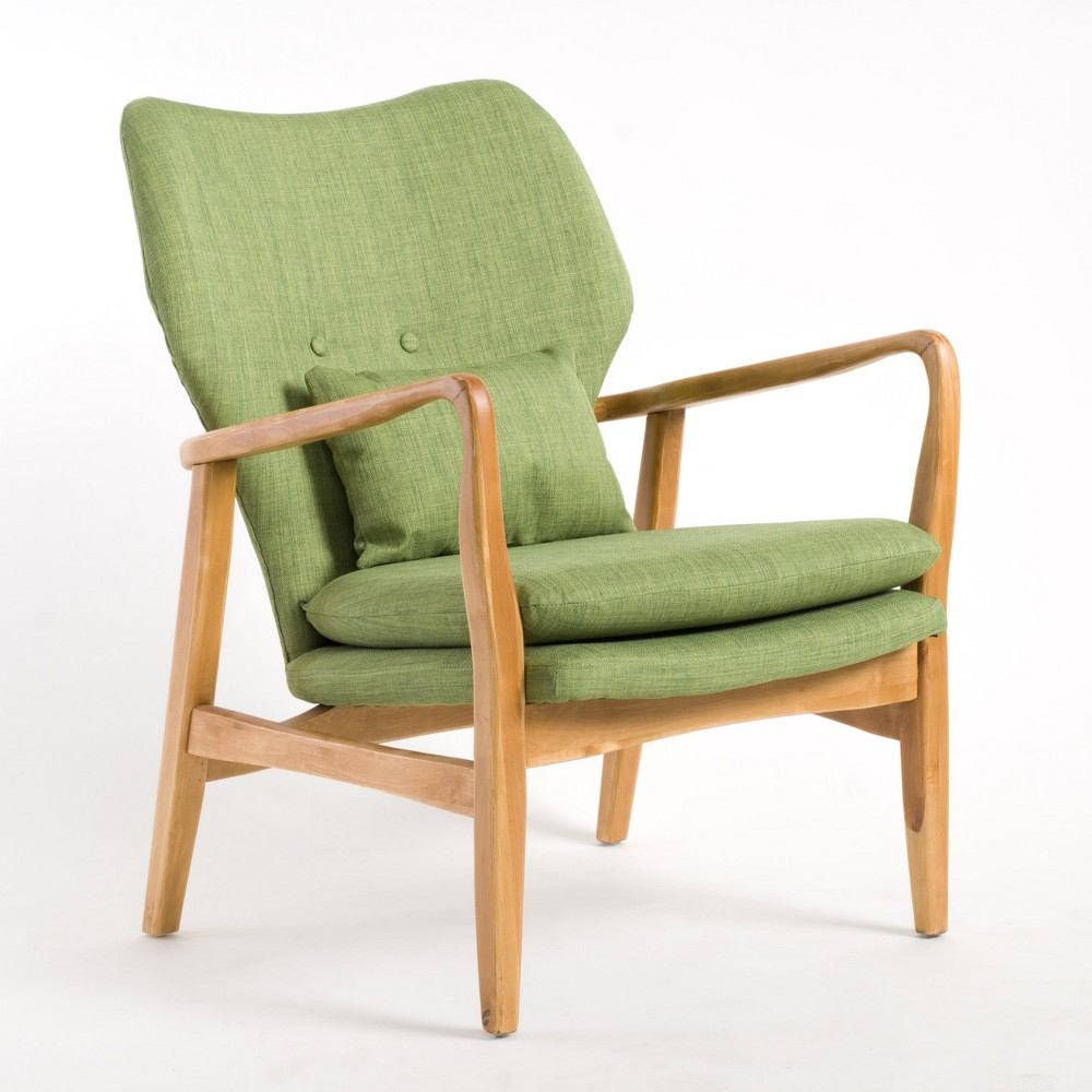 Haddie Wood Frame Club Chair Green – Christopher Knight Home In 2018 Throughout Allie Jade Sofa Chairs (View 9 of 25)