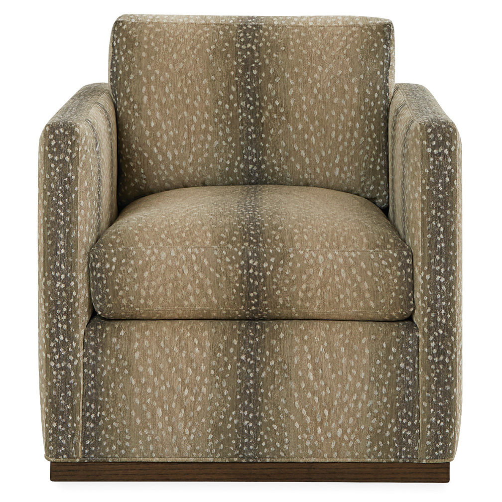 Hans Swivel Chair – Luxe Home Company For Bailey Angled Track Arm Swivel Gliders (Image 14 of 25)