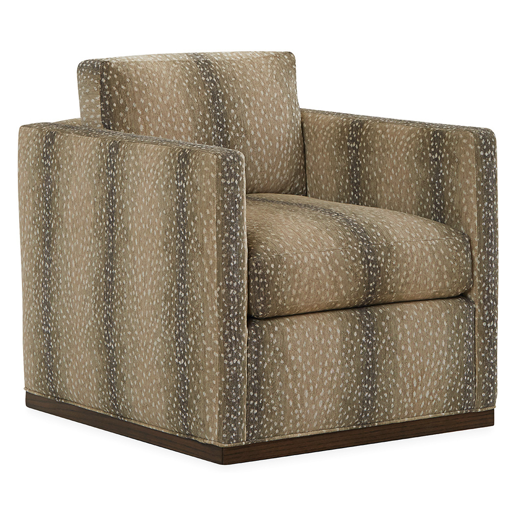 Hans Swivel Chair – Luxe Home Company Throughout Bailey Angled Track Arm Swivel Gliders (Image 15 of 25)