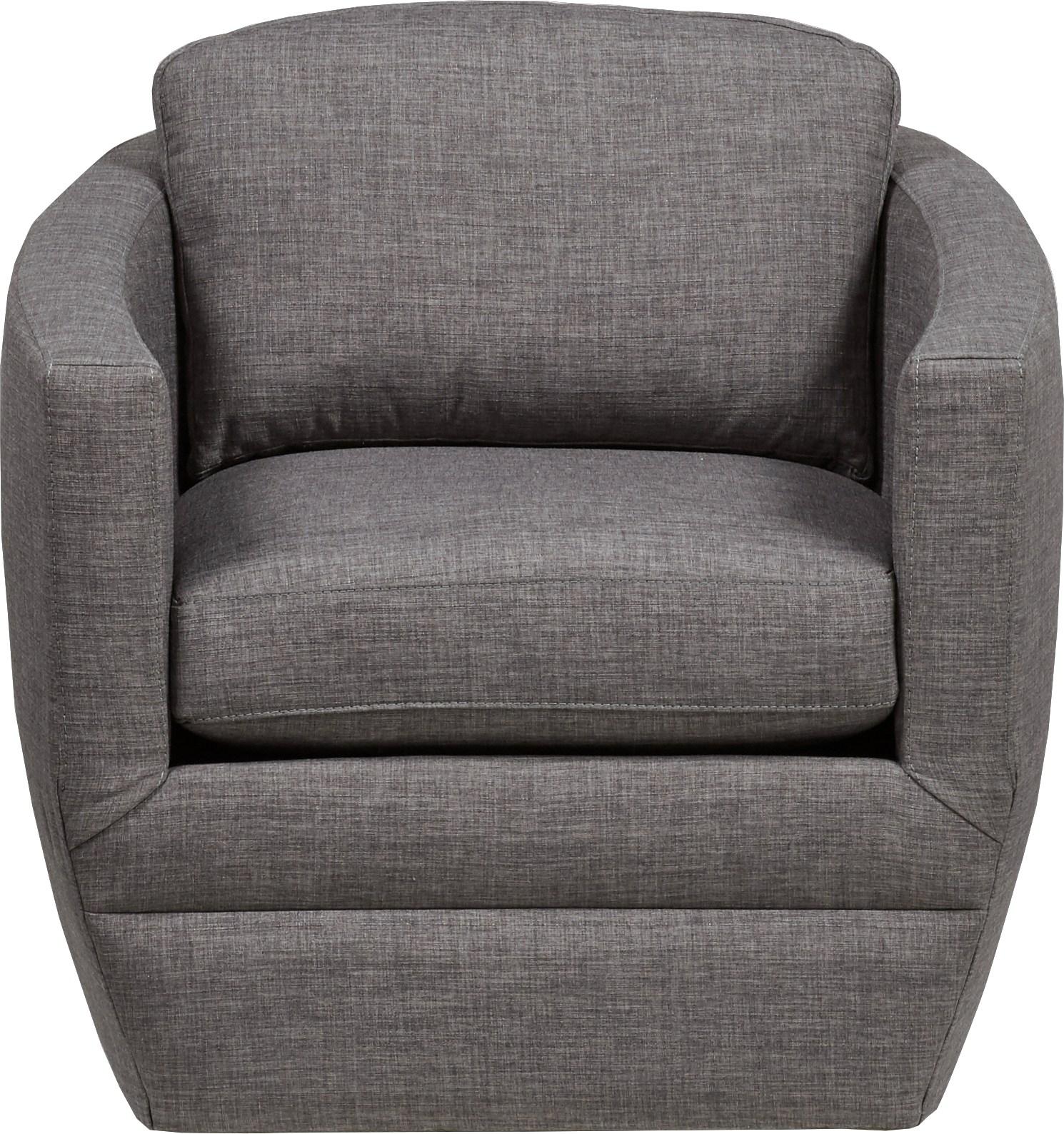 Harbour City San Marino Dark Gray Swivel Chair - Chairs (Gray) within Dark Grey Swivel Chairs