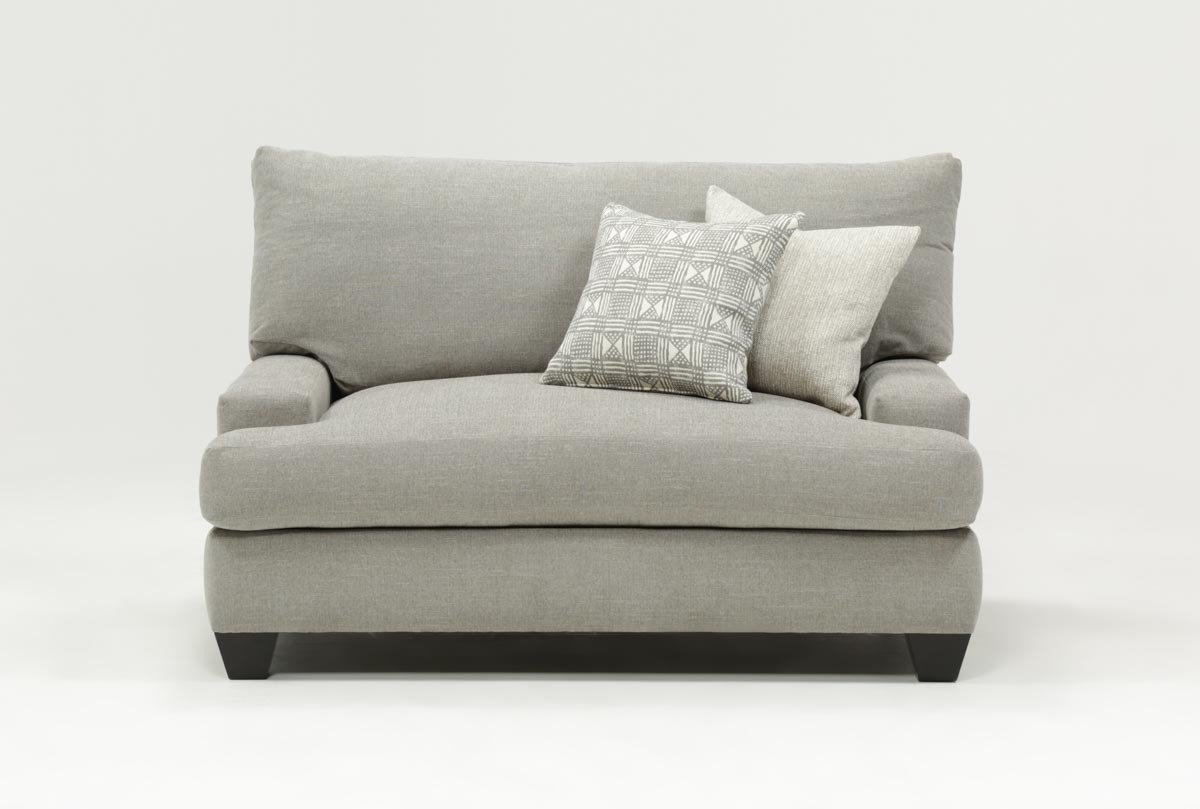 Harper Down Oversized Chair | Living Spaces Pertaining To Mercer Foam Oversized Sofa Chairs (View 4 of 25)