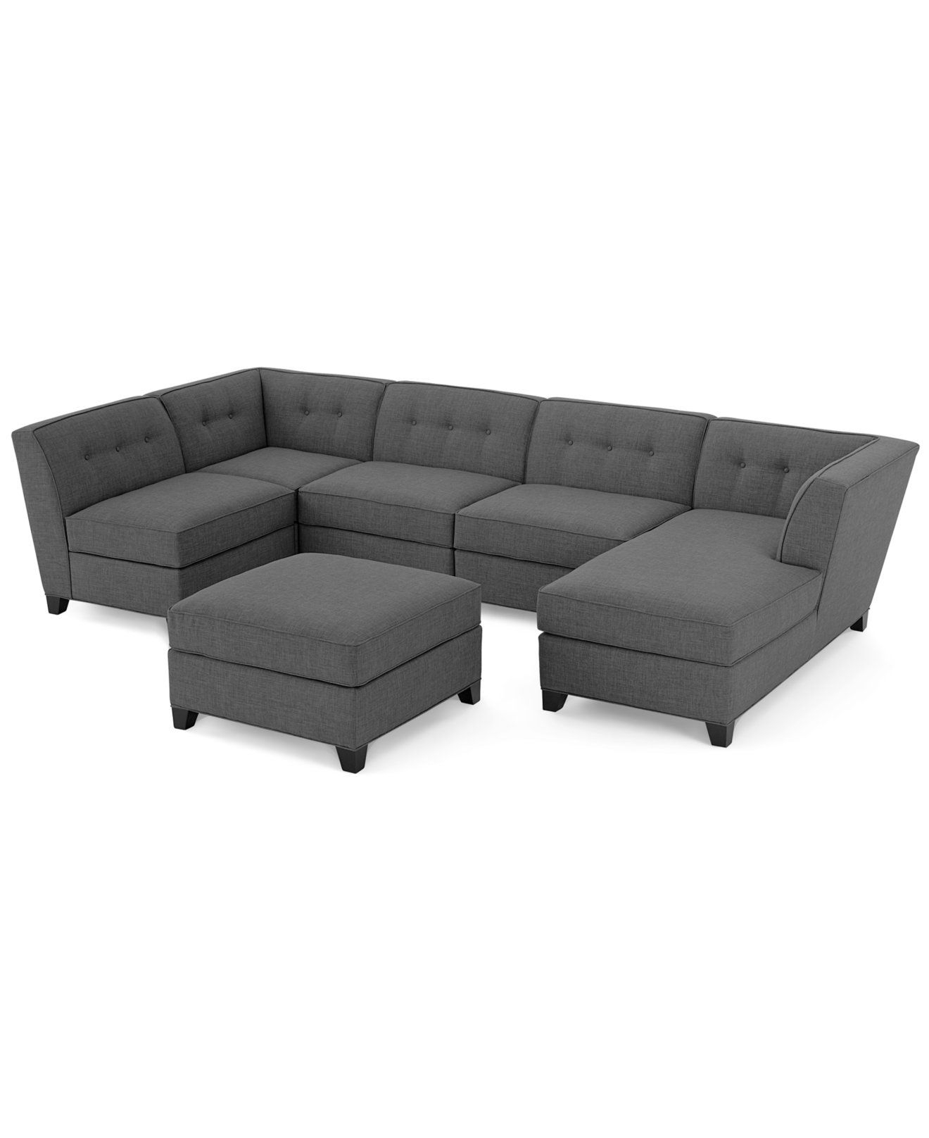 Harper Fabric Modular Sectional Sofa, 6 Piece (Square Corner Unit for Harper Down Oversized Sofa Chairs