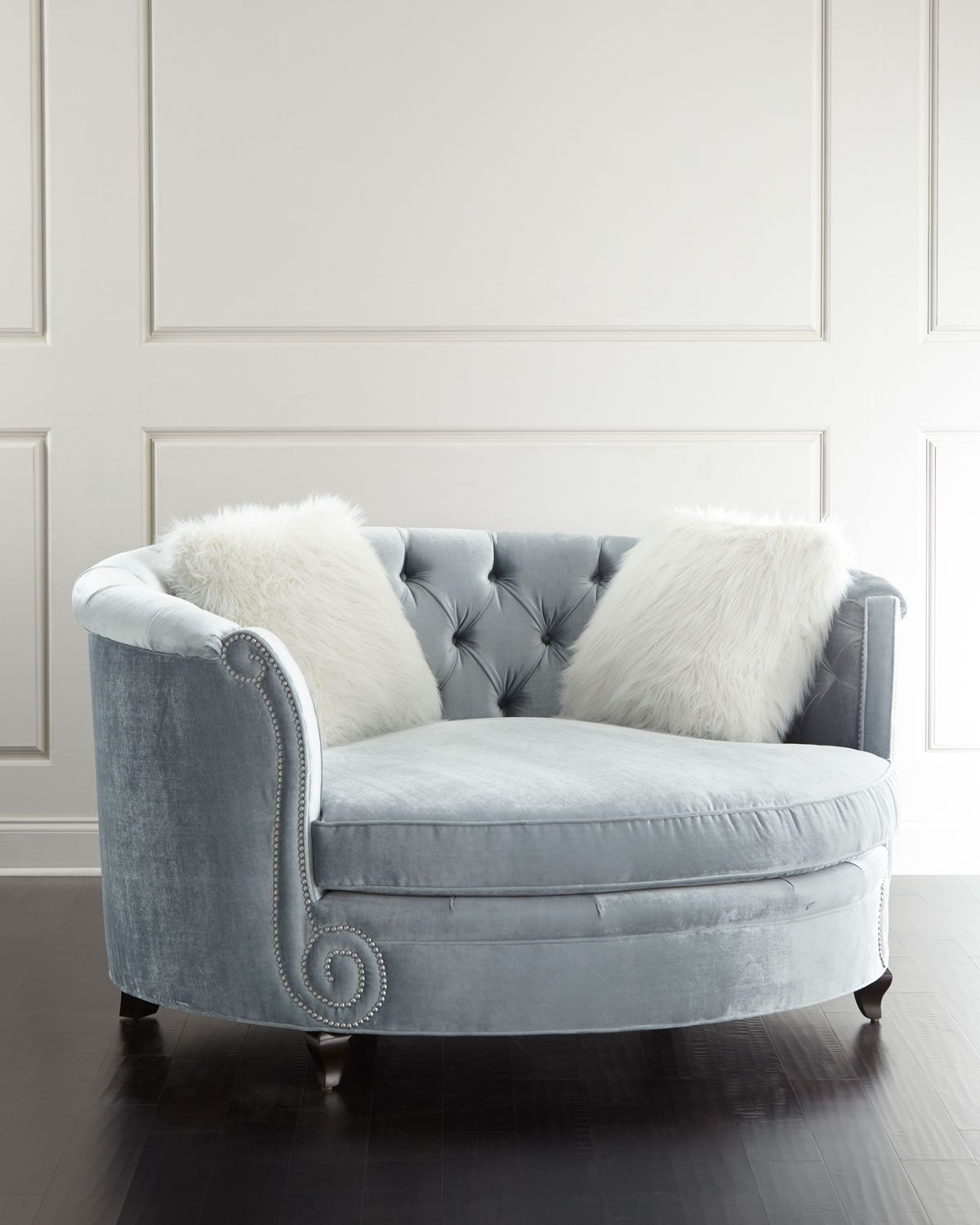 Harper Tufted Cuddle Chair | Hues Of Blues | Cuddle Chair, Furniture Inside Harper Down Oversized Sofa Chairs (View 5 of 25)