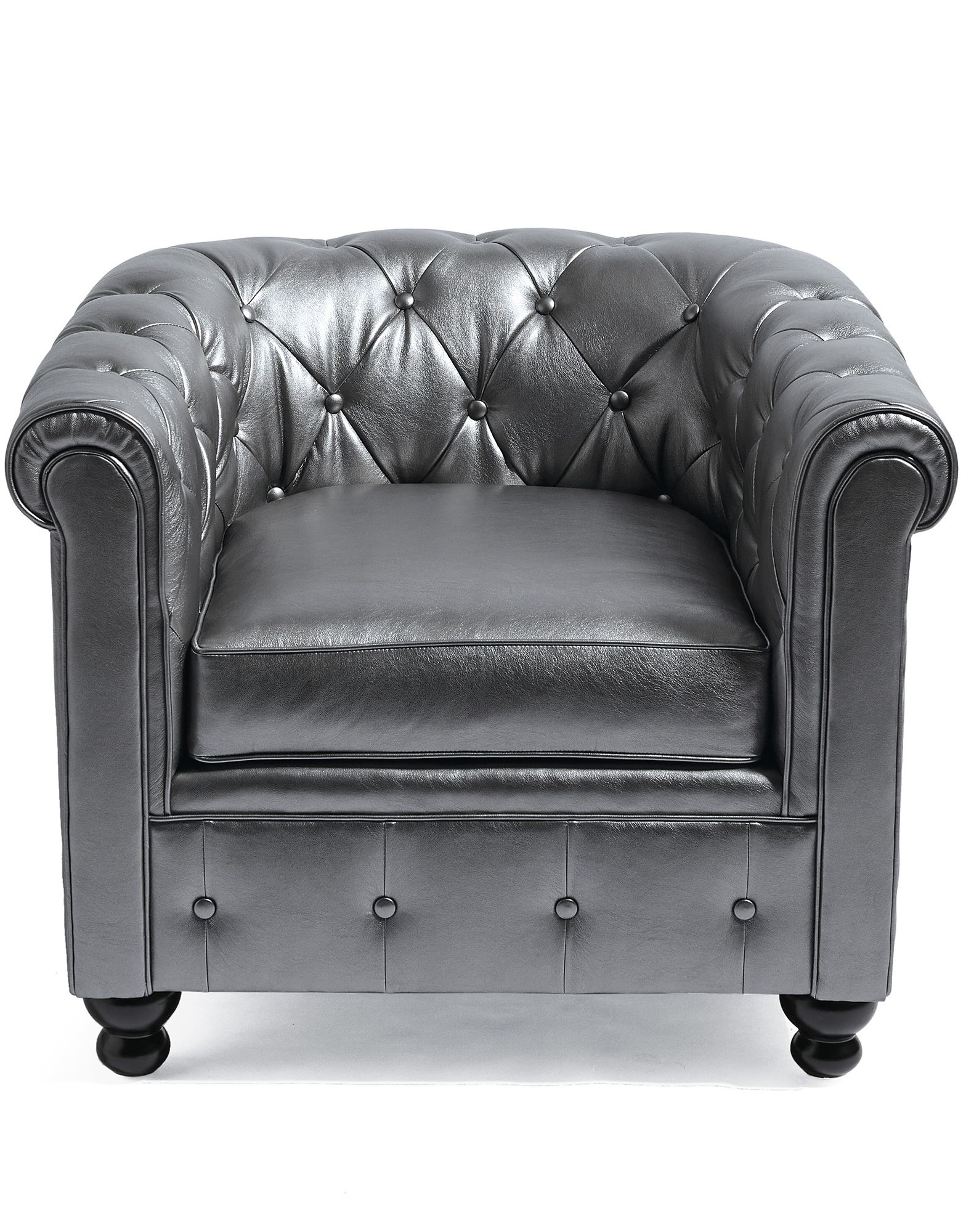 Harrison Chair In Pewter! | Interior Design | Pinterest | Pewter Within Grandin Leather Sofa Chairs (View 2 of 25)