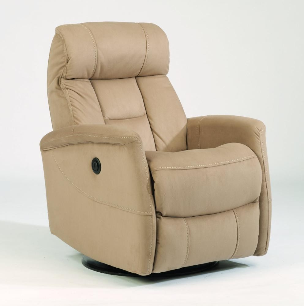 Hart Fabric King Power Swivel Gliding Recliner | 139053Pk | Power with Hercules Chocolate Swivel Glider Recliners