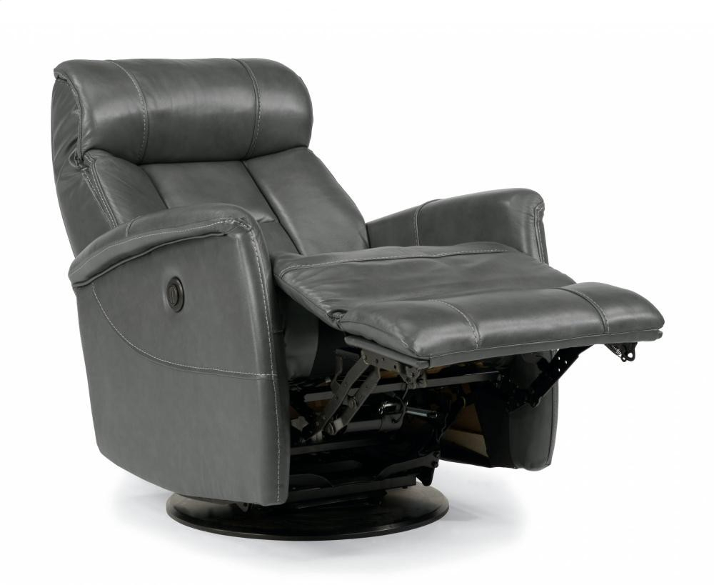 Hart Leather King Power Swivel Gliding Recliner | 139153Pk | Leather with regard to Hercules Chocolate Swivel Glider Recliners