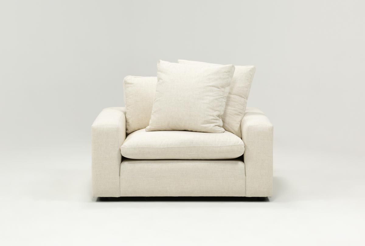 Haven Chair | Living Spaces Intended For Mesa Foam Oversized Sofa Chairs (Image 9 of 25)