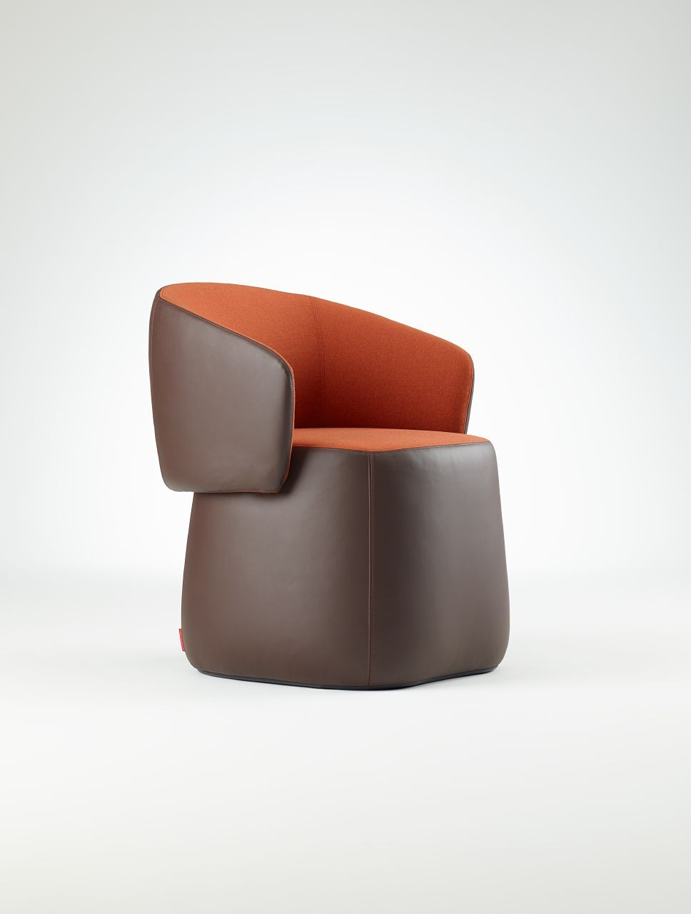 Haworth Openest Collection Chick Pouf With Back – Modern Planet Pertaining To Chadwick Tomato Swivel Accent Chairs (Photo 2 of 25)