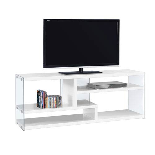 Hawthorne Ave Tv Stand 60L / Glossy White With Tempered Glass I 2690 Within Widely Used Noah 75 Inch Tv Stands (Image 12 of 25)