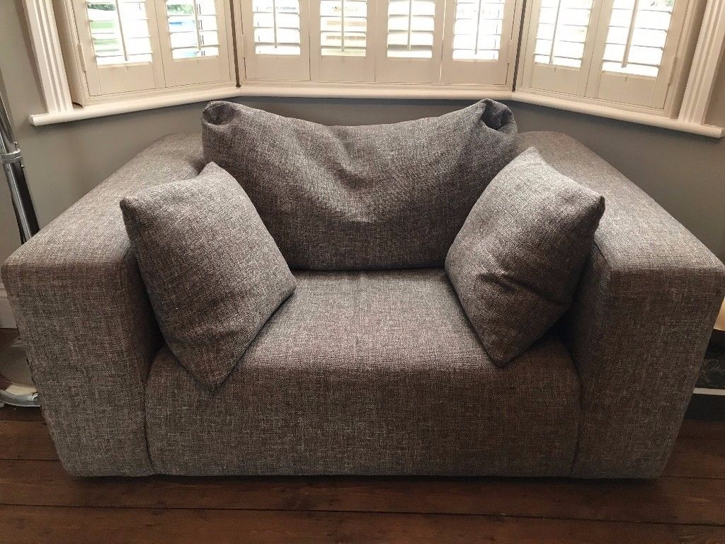 Heals Opera Loveseat Small Sofa Was East Dulwich Velvet Sleeper pertaining to Lucy Dark Grey Sofa Chairs