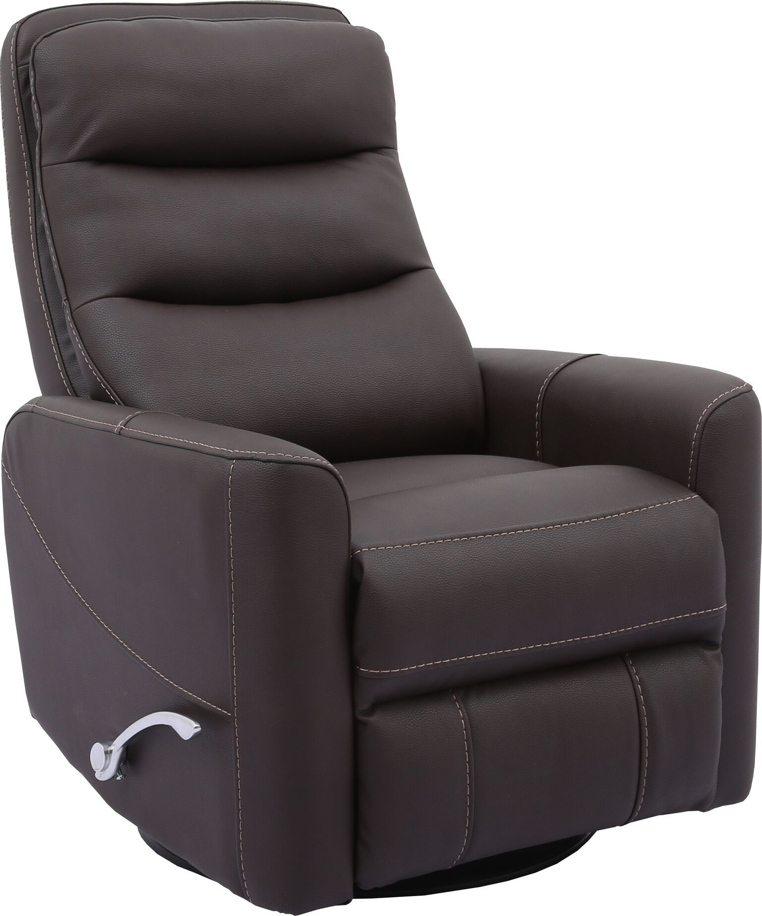 Hercules  Chocolate  Swivel Glider Recliner With Articulating Headrest With Regard To Hercules Grey Swivel Glider Recliners (Photo 2 of 25)