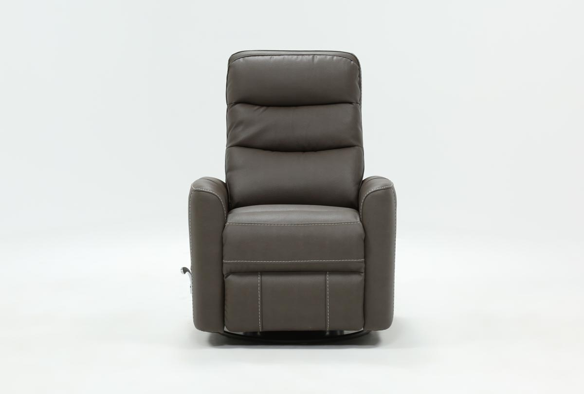 Hercules Grey Swivel Glider Recliner | Living Spaces Pertaining To Hercules Grey Swivel Glider Recliners (Photo 1 of 25)