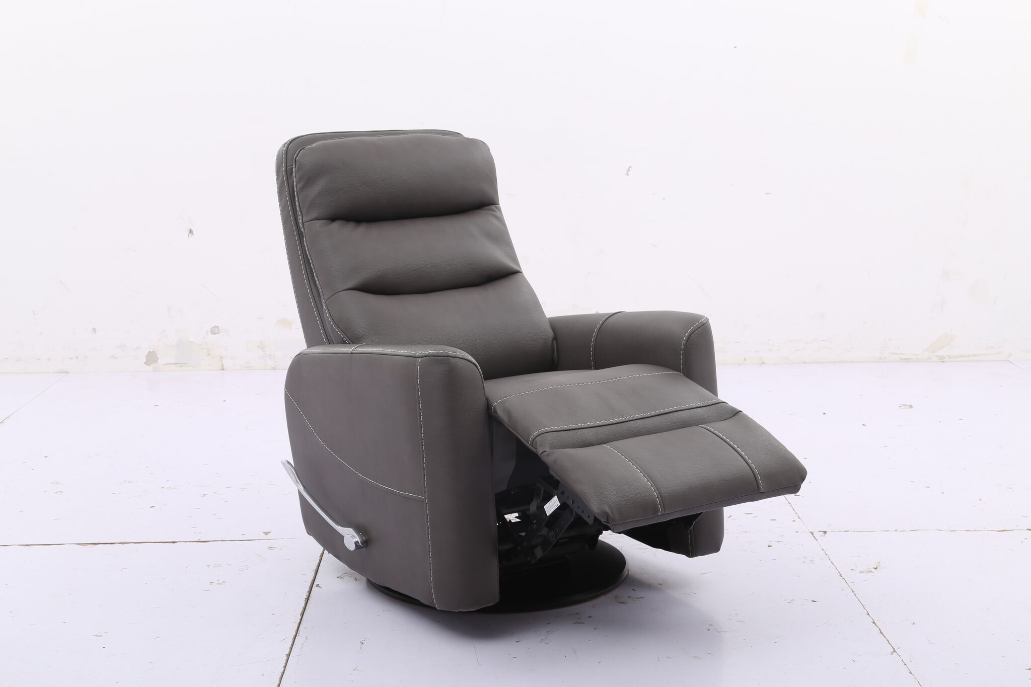 Hercules -Haze- Swivel Glider Recliner With Articulating Headrest with regard to Hercules Oyster Swivel Glider Recliners