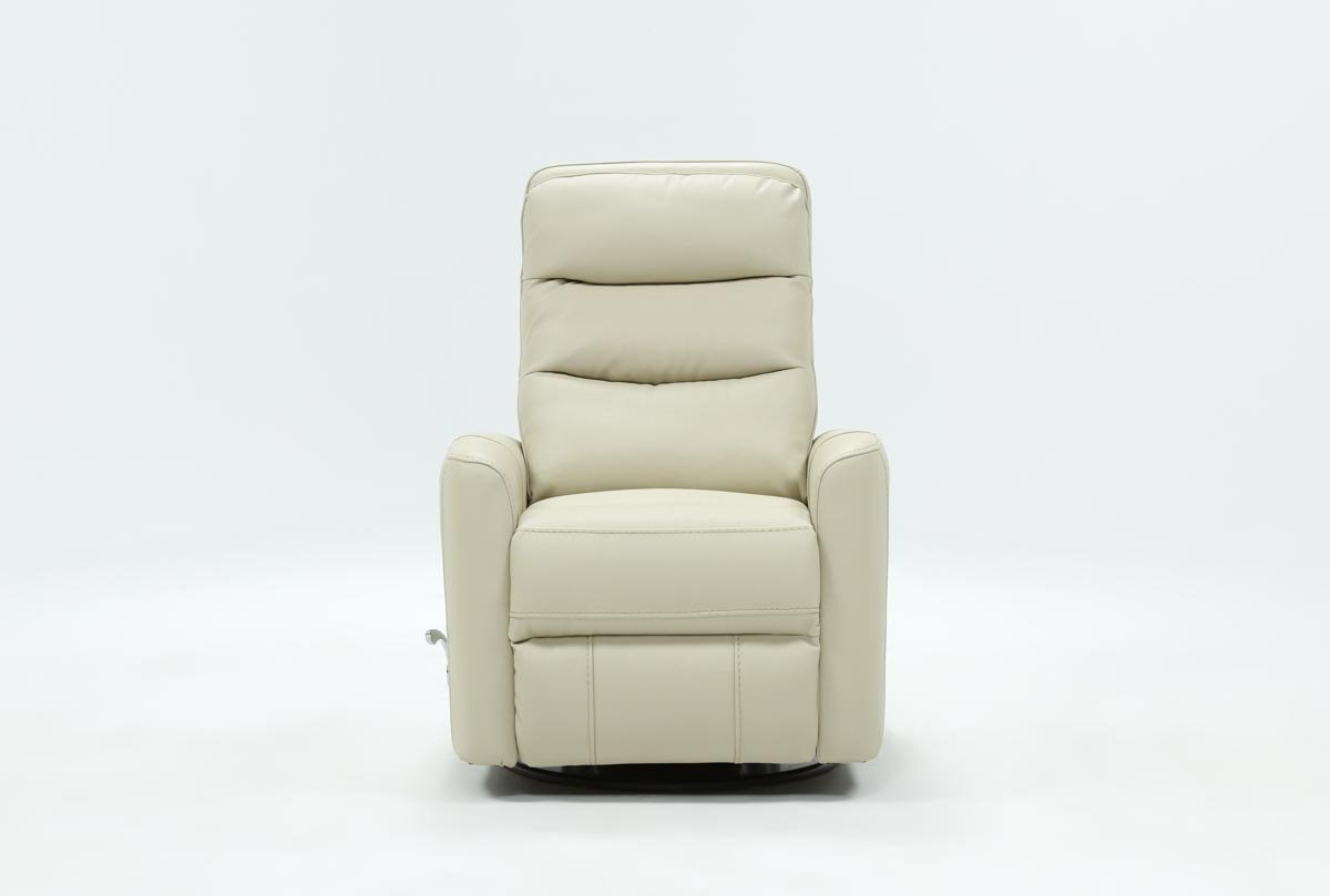 Hercules Oyster Swivel Glider Recliner | Living Spaces Throughout Gannon Truffle Power Swivel Recliners (View 4 of 25)