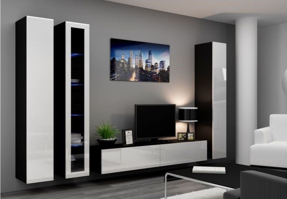 High Gloss Tv Cabinet / Tv Wall Unit / Tv Stand 'viva 2A' In 2019 Inside Most Current Forma 65 Inch Tv Stands (Image 8 of 25)