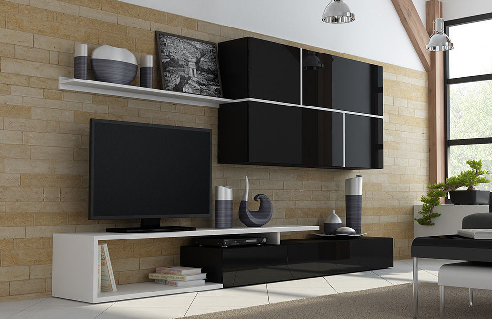 Featured Photo of Black Gloss Tv Wall Unit