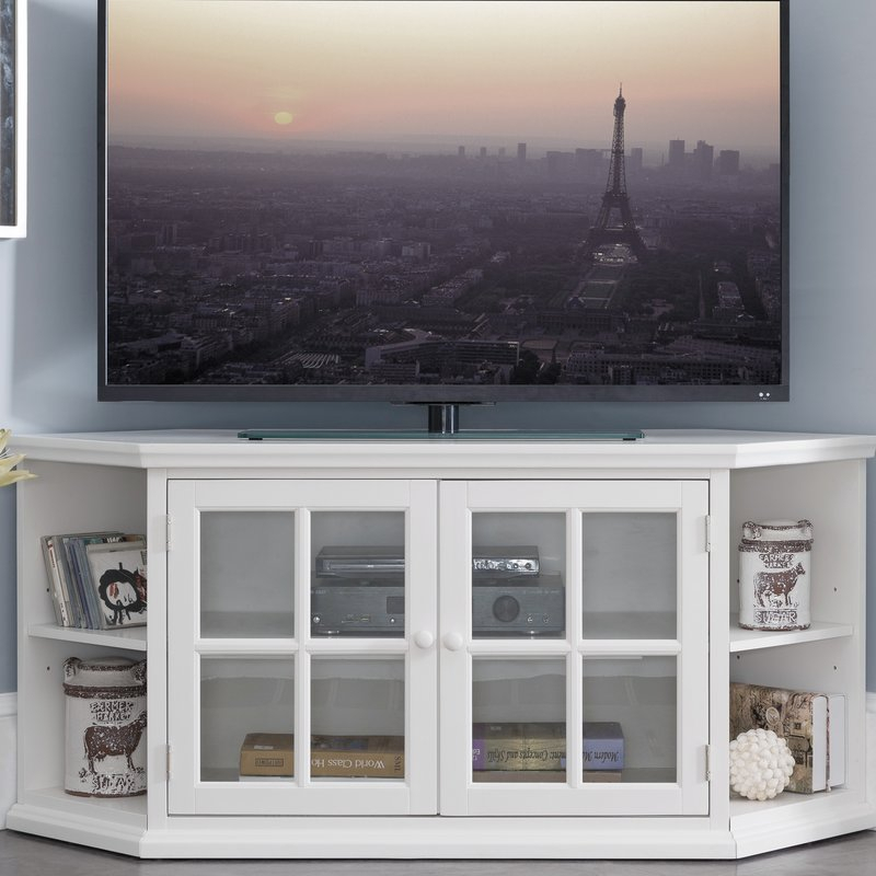 "Highland Dunes Galles Corner Tv Stand For Tvs Up To 65"" & Reviews inside Most Recently Released Caden 63 Inch Tv Stands"