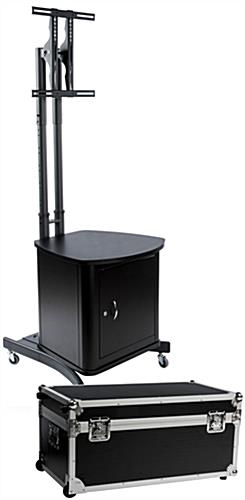 "Holds (1) 32"" To 65"" Screen Pertaining To Most Current Lockable Tv Stands (Image 4 of 25)"