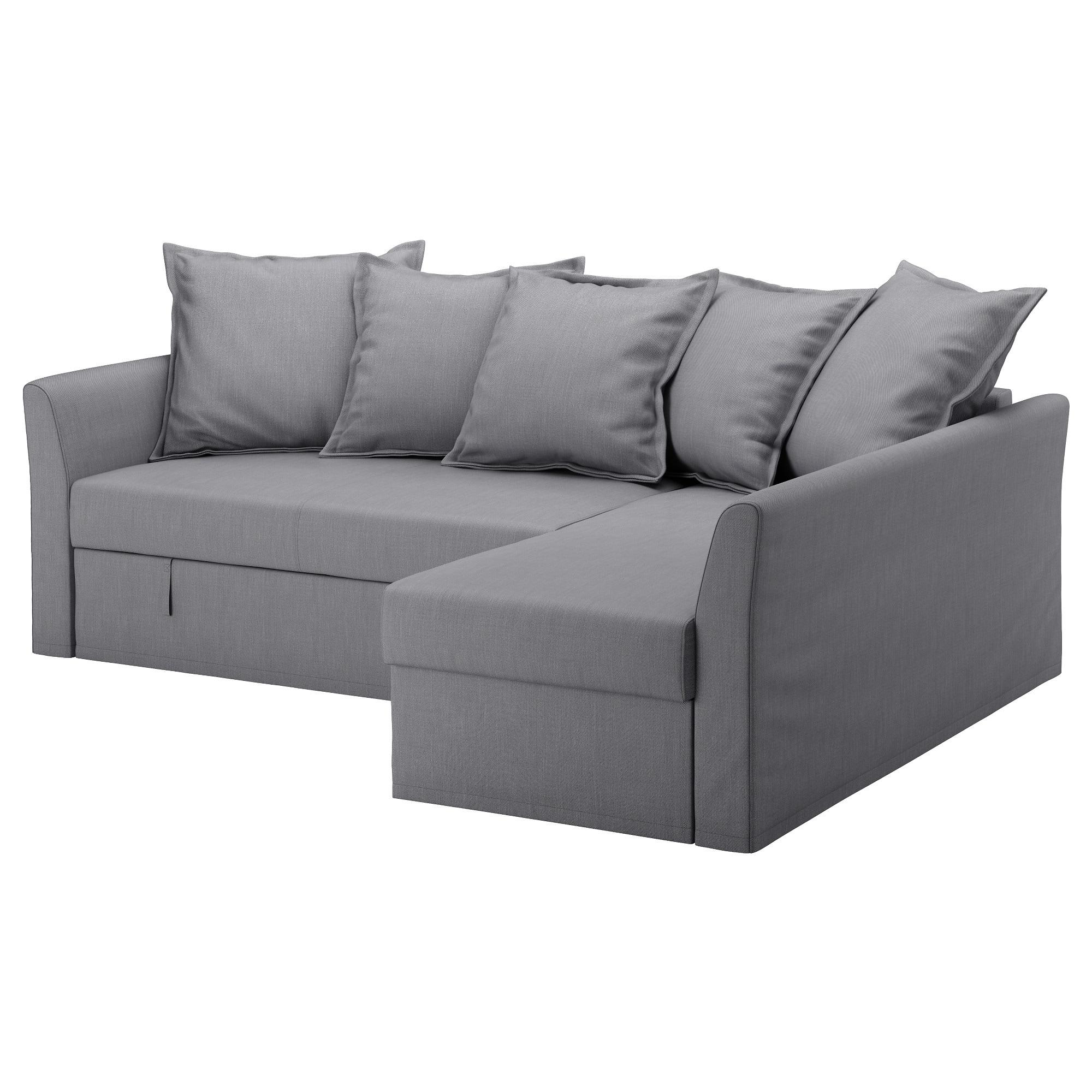 Holmsund Corner Sofa Bed Nordvalla Medium Grey – Ikea With Regard To Ikea Sofa Chairs (Image 10 of 25)