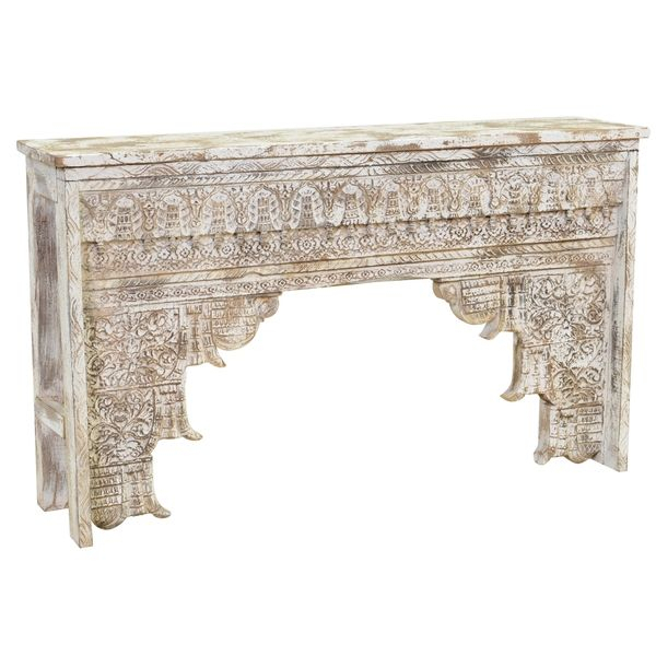 Featured Image of Hand Carved White Wash Console Tables