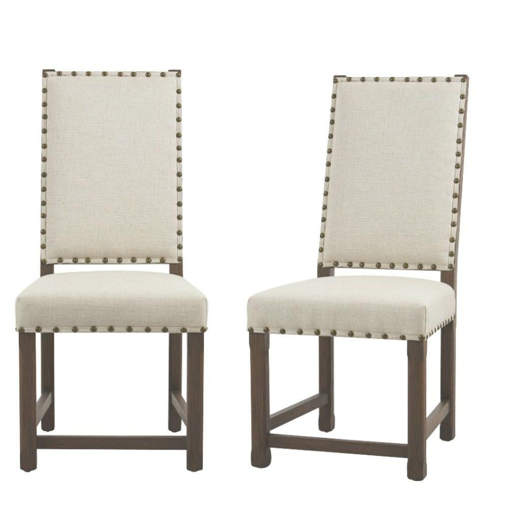 Home Decorators Collection Andrew Beige Dining Chair (Set Of 2 with regard to Andrew Leather Sofa Chairs