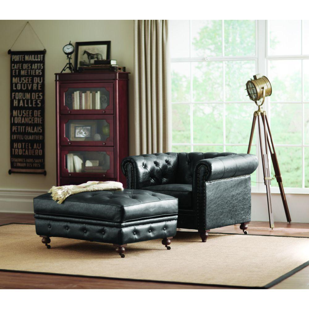 Home Decorators Collection Gordon Grey Velvet Arm Chair Black Accent in Gordon Arm Sofa Chairs