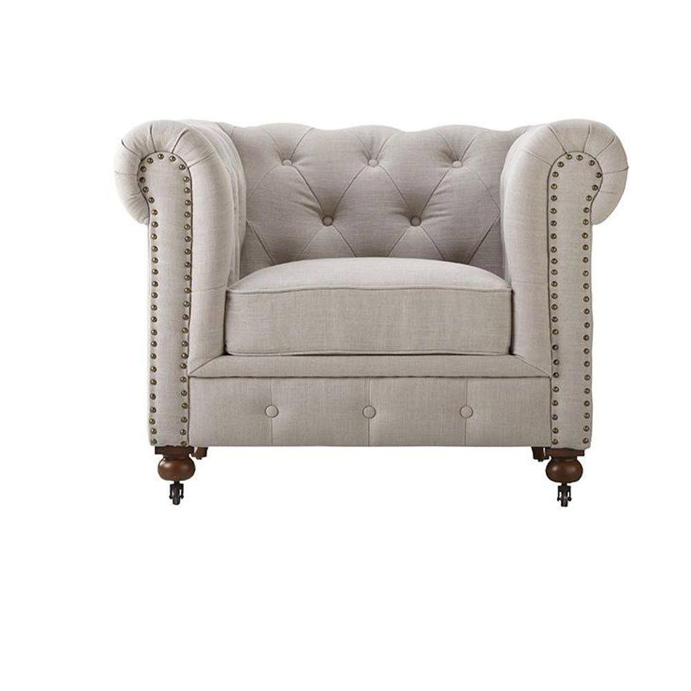 Home Decorators Collection Gordon Natural Linen Arm Chair-0849600400 intended for Gordon Arm Sofa Chairs