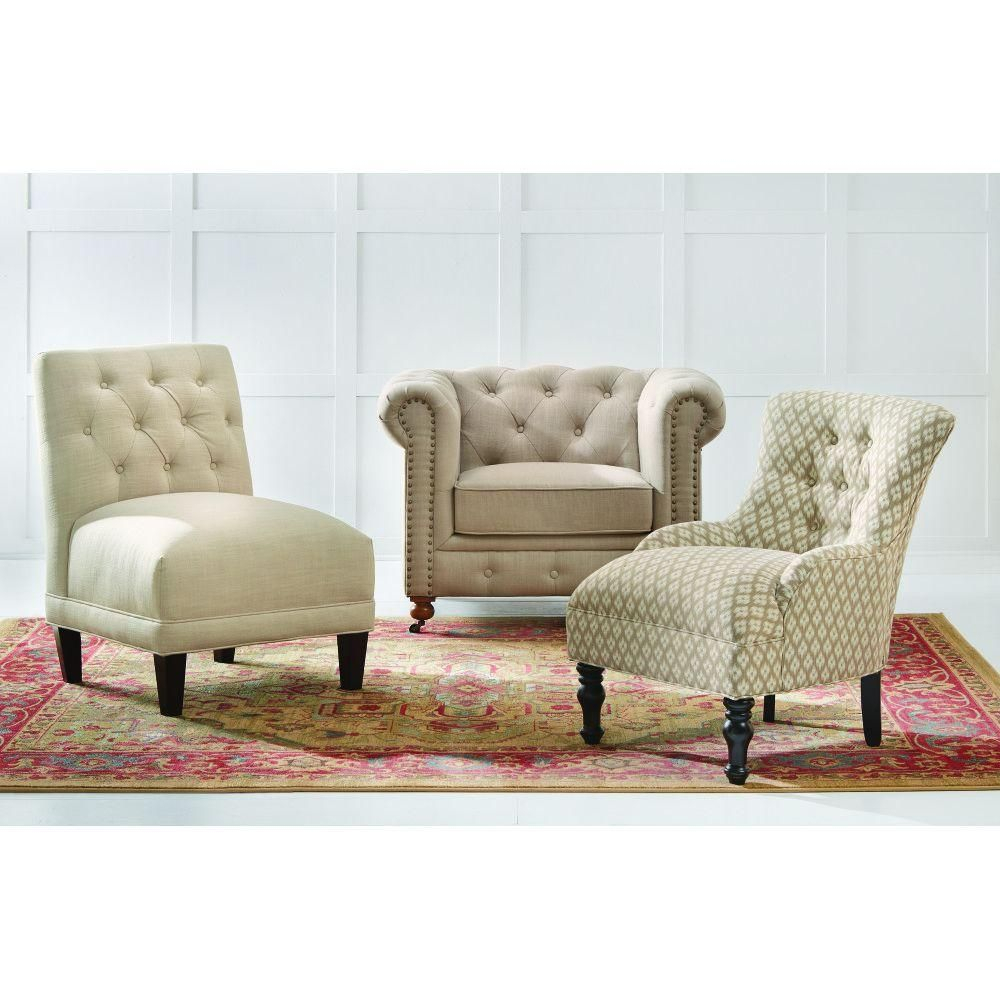 Home Decorators Collection Gordon Natural Linen Arm Chair | Sunroom In Gordon Arm Sofa Chairs (Photo 12 of 25)