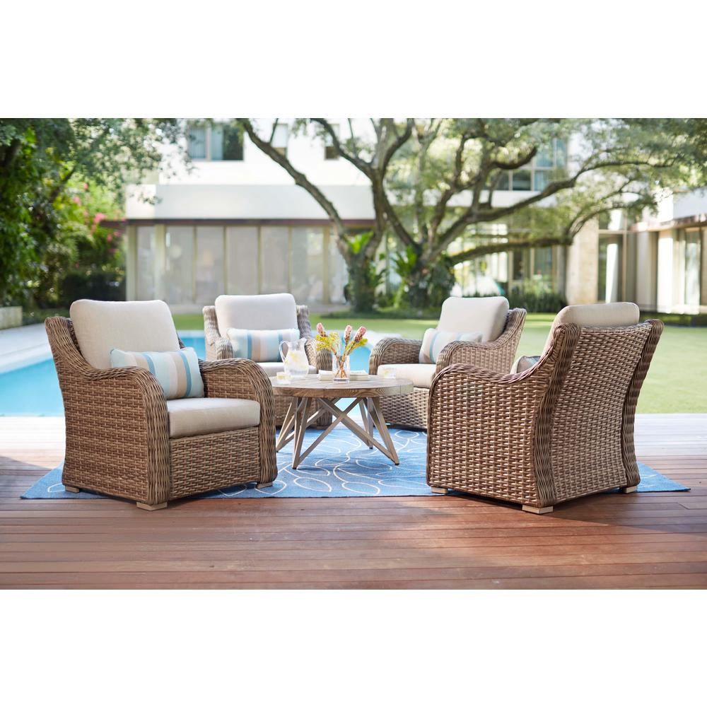 Home Decorators Collection Gwendolyn 5-Piece Wicker Patio Deep with Gwen Sofa Chairs