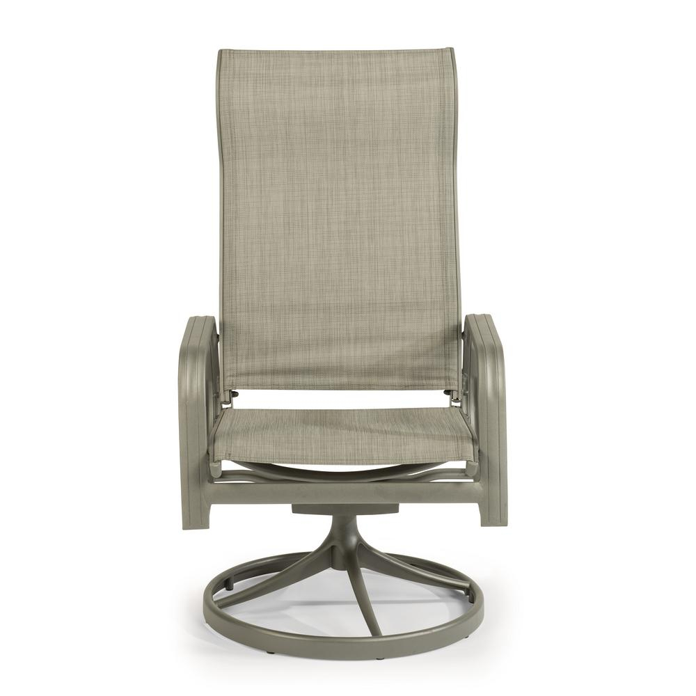 Home Styles Daytona Charcoal Gray Swivel Aluminum Outdoor Dining With Charcoal Swivel Chairs (View 16 of 25)