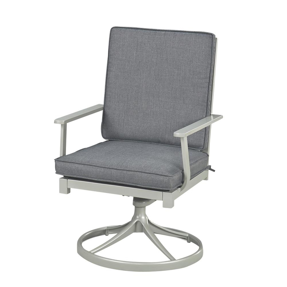 Home Styles South Beach Grey Swivel Extruded Aluminum Outdoor Dining with regard to Charcoal Swivel Chairs