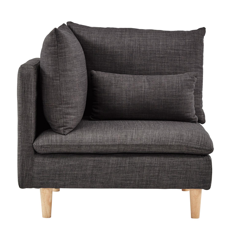 Homehills Eden Modular Dark Grey Corner Chair 22E995Cr Dgl | Bellacor With Allie Dark Grey Sofa Chairs (View 25 of 25)