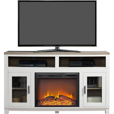 "Homestar Langley Tv Stand For Tvs Up To 60"" With Fireplace & Reviews regarding Well-liked Caden 63 Inch Tv Stands"