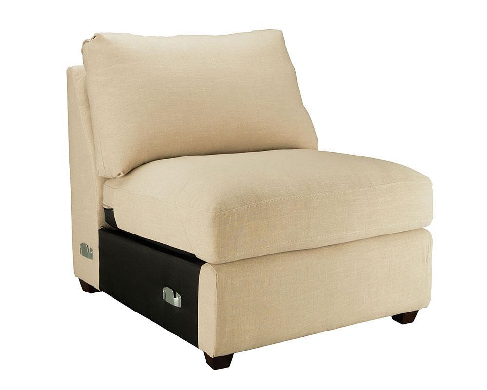 Homestead Armless Chair – Magnolia Home Throughout Magnolia Home Homestead Sofa Chairs By Joanna Gaines (Image 3 of 25)