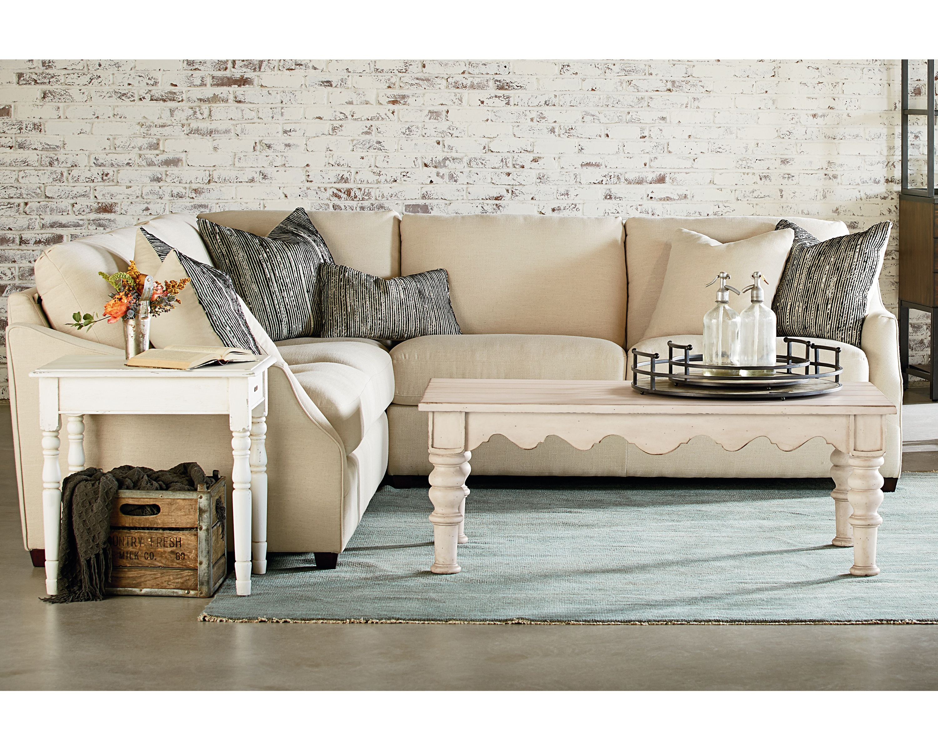 Homestead Sectional – Magnolia Home Inside Magnolia Home Homestead Sofa Chairs By Joanna Gaines (Image 6 of 25)