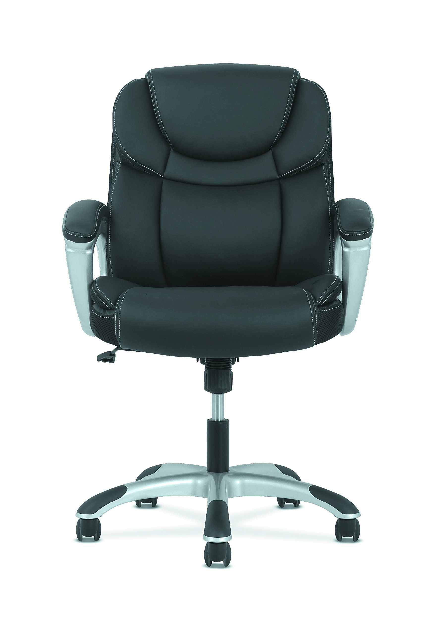 Hon Sadie Leather Executive Computer/office Chair With Arms in Sadie Ii Swivel Accent Chairs