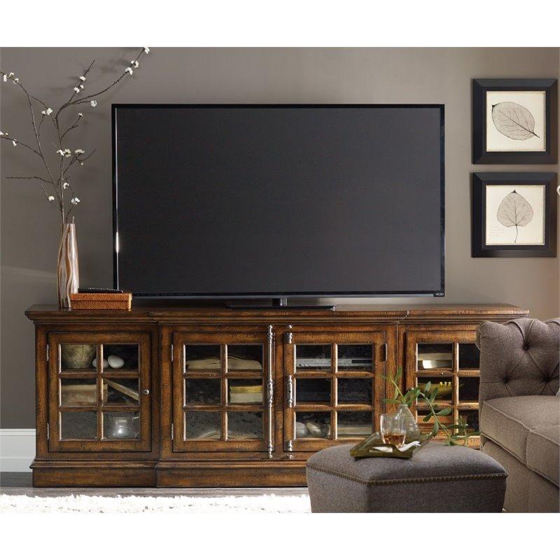 Hooker Furniture Brantley 4 Door Tv Stand In Dark Wood - 5302-55492 pertaining to Best and Newest Dark Wood Tv Stands